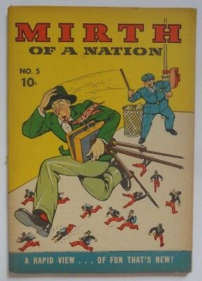 """Mirth Of A Nation #5 1944 Harry """"A"""" Chesler Wartime Comic Book Armed Services"""