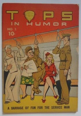Tops In Humor #2 1944 Chesler Wartime Comic Book Armed Services Winsor McCay Imp