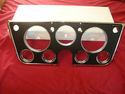 67-72 Chevy or GMC Truck Dash Bezel with Black face & Chrome Edges,   NEW