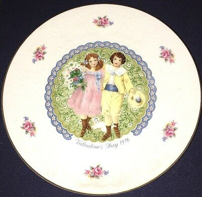 Royal Doulton My Valentine Valentines Day 1976 Collectors Plate