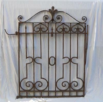 Victorian Cast Iron Garden Gate Architectural Salvage Pick Up Only 1880s-90s