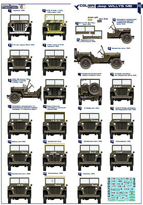 cd72016/ Colibri Decals - Jeep WILLYS MB - Rote Armee - 1/72