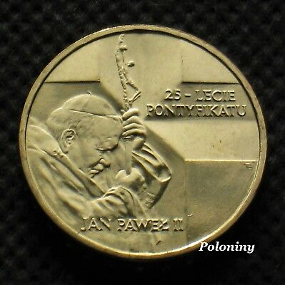 Commemorative Coin Of Poland - 25 Years Of Pontificate Pope John Paul Ii (Mint)
