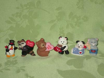 Hallmark ~ Valentine Merry Miniatures ~ Lot of 6 ~ penguin & panda & more