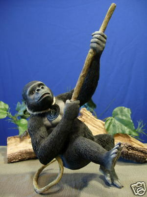 Gorilla Figurine Swinging on Vine Rope Carefree Country Artist CA03382 New NO Bx