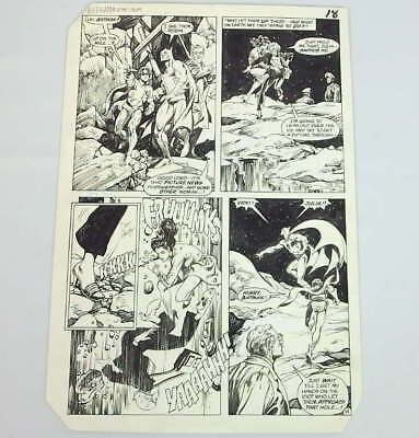 Original Don Newton Alfredo Alcala Art Batman Comic #375 Page 14 Signed 1983