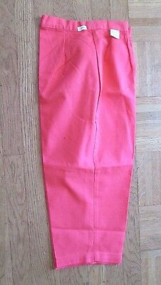 Vintage Women's Pedal Pushers in Coral - Size 10 NWT  - 1960s