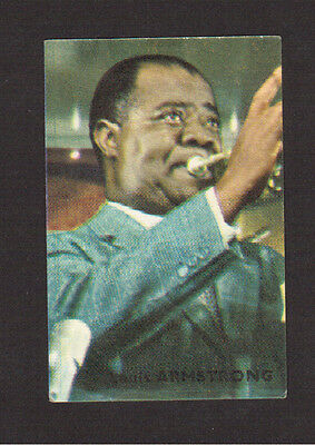 Louis Armstrong Jazz Blues Trumpet Vintage 1960s French Victoria Chocolates Card