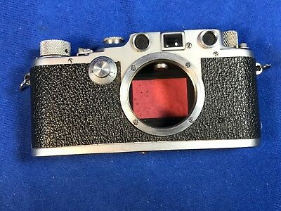 Leica IIIC Red Shutter Curtain WWII Rare N-L Marked Camera Body No. 362729 1940