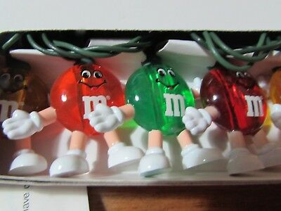 2 boxes NEW UNUSED Vintage 1993 M&M Mars HAPPY CHRISTMAS strings colored LIGHTS