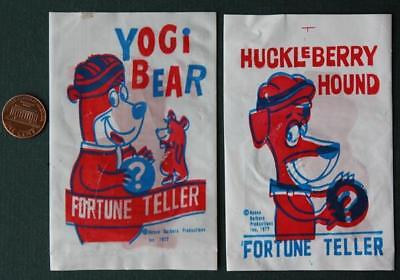 1977 Hanna Barbera Yogi Bear-Huckleberry Hound Magic Fortune Teller vinyl set!
