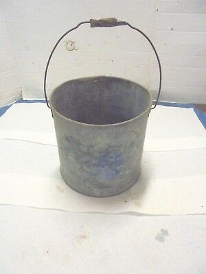 galvanized metal minnow bucket outside pail garden industrial decor j c higgins