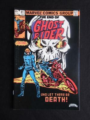 Ghost Rider #81 MARVEL 1983 - NEAR MINT 9.2 NM - death of Ghost Rider - Stan Lee