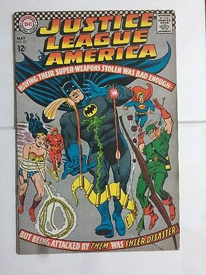 Justice League of America #53 May 1967 DC Comic, Flawed Top Sliced See Pics