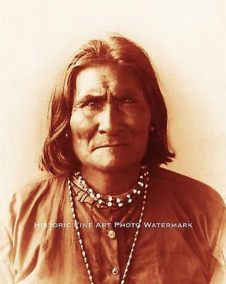 Apache Indian War Chief Geronimo Vintage Photo Native American Old West #21575