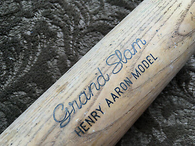 Vintage Louisville Slugger WOOD 180 Baseball Bat HENRY AARON GRAND SLAM MODEL