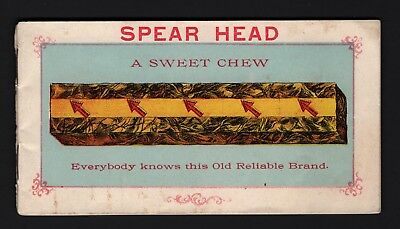 Scarce 1900 SPEAR HEAD TOBACCO Trade Card Premium Booklet - 24 pages