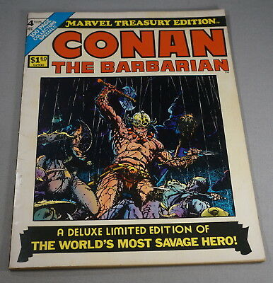 Original 1975 Marvel Treasury Edition No. 4 Conan The Barbarian Comic Book (001)
