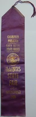 Antique 1920 Illinois State Fair Champion Premium Heavy Horses Springfield #2