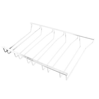Family Bar Stainless Steel 5 Rows Design Wine Cup Storage Shelf Rack Silver Tone