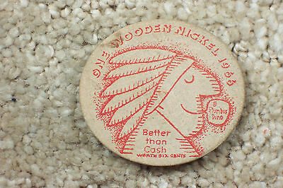 Sinclair Products Petroleum 1966 Wooden Nickel