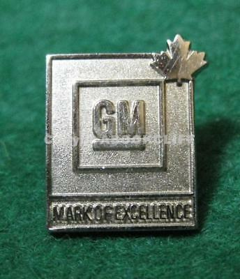 GM CANADA MARK OF EXCELLENCE Lapel Pin Mint
