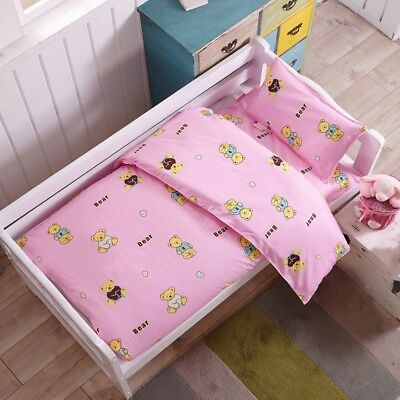 Baby Bedding Set Cozy Infant Bedding Supply Lovely Kindergarten Bed Covers 3PCS