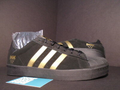 ADIDAS SUPERSTAR VULC x DGK DIRTY GHETTO KIDS CORE BLACK GOLD NMD R1 B72827  9.5 4910cc7d1