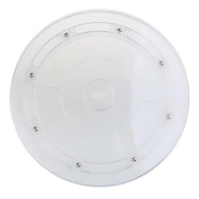 Plastic Turntable Plate Rotating Disc Base Turn Table Display Accs 8'' Clear