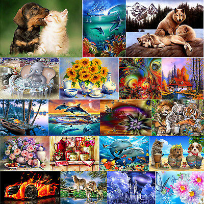 5D DIY Animals Diamond Painting Embroidery Cross Stitch Kits Images Crafts Decor