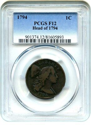 1794 1c PCGS F12 (Head of 1794) Large Cent
