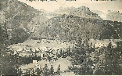SUISSE VILLAGE DU SIMPLON - PHOTOTYPIE top 42469
