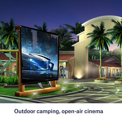 "60-100"" Foldable Projector Screen 4:3 Projection For HD Home Theater Curtain DH"