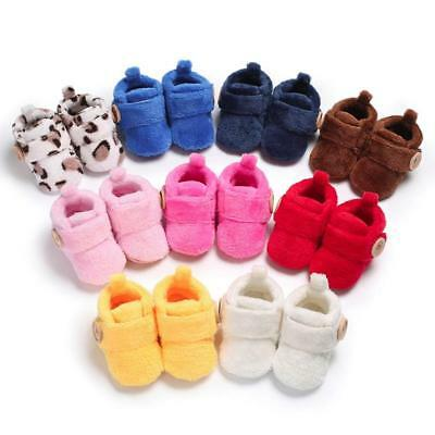 Toddler Prewalkers Baby Kid Boots Shoes Round Toe Flats Soft Warm Slippers Shoes
