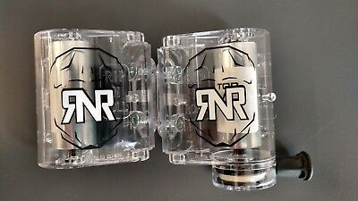 RIP N ROLL replacement WVS 48 mm roll off canister set Clear motocross goggles