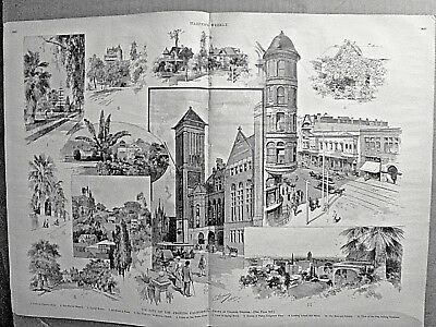 LOS ANGELES, CA Indepth! 1890 Harpers Weekly  FATHER LACOMBE & BLACKFEET INDIANS