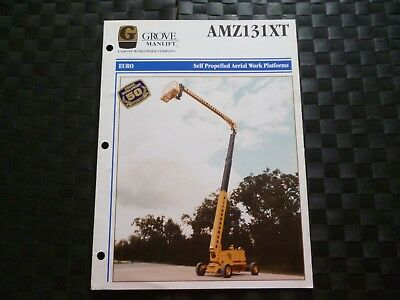 Grove Manlift Amz131Xt Self Propelled Aerial Work Platforms Leaflet *as Pics*