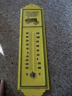 John Deere The Trademark Of Quality Made Famous By Good Implements Thermometer