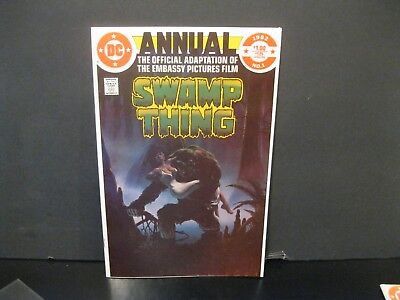 """Swamp Thing Annual #1 1982 """"Movie Adaptation""""  Bag/Board Included  Nice Copy"""