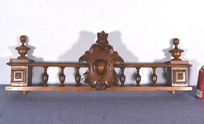 "27"" French Antique Walnut Wood Crest/Crown Rail"