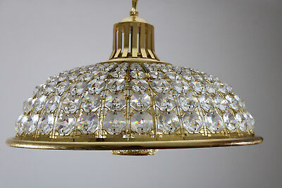 Wonderful Lead Crystal Chandelier + 2 Wall Sconces Lamp, 70s 80s, Italy / France