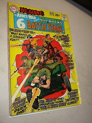 OUR ARMY AT WAR #190, 80 page GIANT, SGT ROCK'S 6 BATTLE STARS