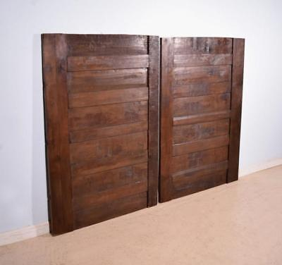 Pair of Antique French Solid Oak Wood Panels/Wainscoting from the 1700's
