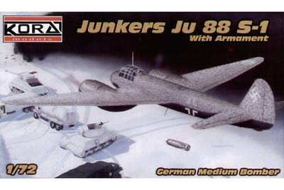 1/72 Kora Full Resin Kit Junkers Ju-88 S1 with full Armament, Top Bausatz