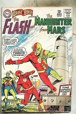 Brave And The Bold #56-1964 vg- Flash / Martian Manhunter