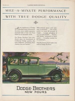 1927 Dodge Brothers New Fours Car Auto Motor Engine Country Drive Sedan 19379