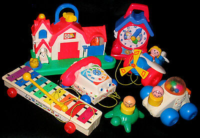 BUNDLED LOT Classic Fisher Price 1980's Baby / Toddler Toys