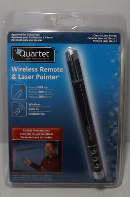Quartet Wireless Remote & Laser Pointer Presentation 655ft/200m Class 2 84502