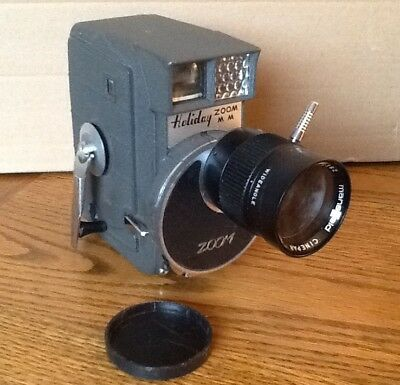 Vintage MANSFIELD HOLIDAY ZOOM 8 MM MOVIE CAMERA made in JAPAN