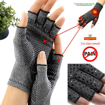Pair Anti Arthritis Gloves Hand Support Pain Relief Arthritis Finger Compression